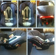Polka dot car seat
