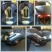 Graco Blue/polka dot car seat